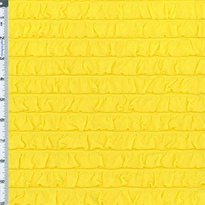 Bright Yellow Ruffle Knit 56920 Discount Fabrics