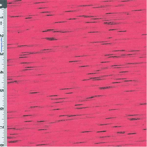 Pop pink space dyed slub jersey knit 56935 fashion fabrics for Space dye knit fabric by the yard