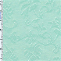 Aqua-green Pointelle Floral Jacquard Knit