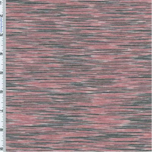 Red black space dye stripe jersey knit 57364 fashion for Space dye knit fabric by the yard