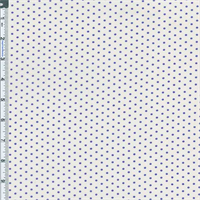 *2 3/8 YD PC--White/Purple Dot Cotton Lawn