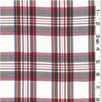 *1 1/4 YD PC--Ivory Multi Plaid Suiting