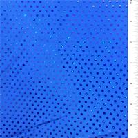 *2 3/8 YD PC--Blue Hologram Dot Activewear