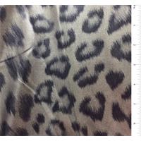 Silver Cheetah Foil Jersey Knit