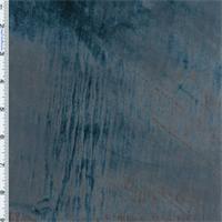 Colonial Blue Panne Velvet Drapery Fabric