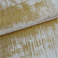 Silk Blend Almond Beige Panne Velvet Home Decorating Fabric
