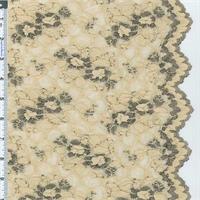 *3 YD PC--Beige Designer Scallop Edge Stretch Lace
