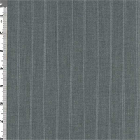 *4 3/8 YD PC--Charcoal Pinstripe Suiting