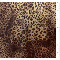 *3 YD PC--Gold Leopard Foil Jersey Knit