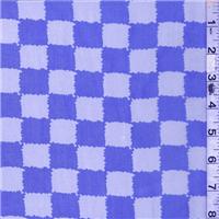 *1 3/4 YD PC--Purple/Ivory Check Silk Chiffon
