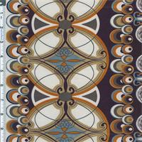 *3 YD PC--Navy Art Nouveau Satin Charmeuse