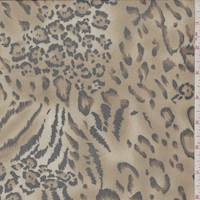 Golden Brown Animal Print Stretch Mesh