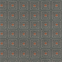 Graphite Gray/Navy Woven Checkered 4 Square Home Decorating Fabric