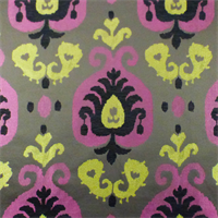 Brown/Yellow/Pink Paisley Chenille Home Decorating Fabric
