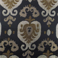 Black/Brown Paisley Jacquard Chenille Home Decorating Fabric