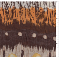 *3 YD PC--BROWN MULTI PRINT CHALLIS