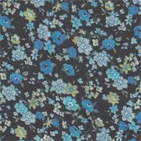*3 1/2 YD PC--Blue Floral Challis