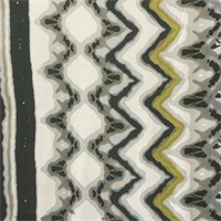 *4 YD PC--White with Border Silk Jersey