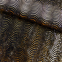 Gold/Black Wave Metallic Home Decorating Fabric