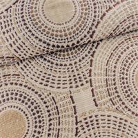 White/Taupe Circular Jacquard Home Decorating Fabric