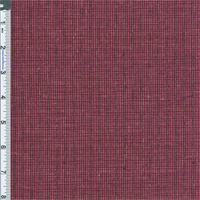 *2 1/4 YD PC--Cherry Pink Mini Check Cotton/Linen