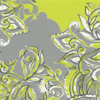 *3 YD PC--Lime Green Floral Knit