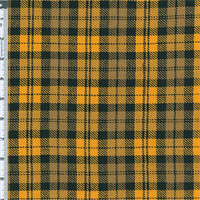 *3 1/4 YD PC--Yellow/Black Benson Plaid Shirting