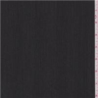*1 1/2 YD PC--Black/Grey Stripe Wool Suiting