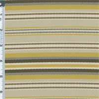Yellow/Beige Designer Citron Stripe Home Decorating Fabric