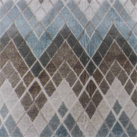 Teal/Beige Marquee Oasis Chenille Home Decorating Fabric