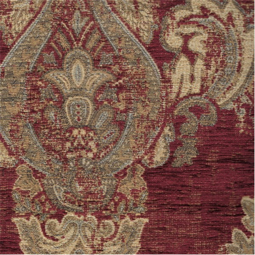 Chenille Jacquard Mercola Red Home Decorating Fabric Dfw50827