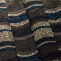Chenille Jacquard Indigo/Brown Home Decorating Fabric