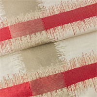 Red/Beige/Ivory Ikat Plaid Home Decorating Fabric
