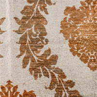 Tabasco Brown/Ivory Acanthus Chenille Home Decorating Fabric