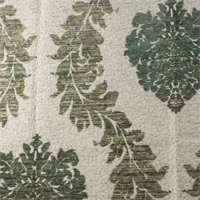 Green/Ivory Watercress Acanthus Chenille Home Decorating Fabric