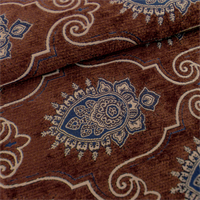 Brown Teardrop Chenille Home Decorating Fabric