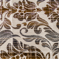 White/Brown Graphite Floral Home Decorating Fabric