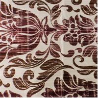 White/Brick Red Floral Home Decorating Fabric