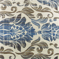 Beige/Blue Floral Jacquard Home Decorating Fabric