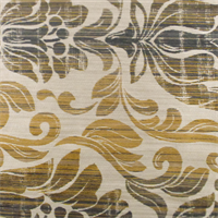 Beige/Gold Floral Jacquard Home Decorating Fabric