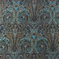 Bermuda Teal Paisley Chenille Home Decorating Fabric