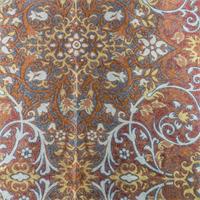 Spice Orange Scroll Jacquard Home Decorating Fabric