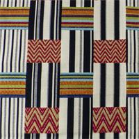 Patchwork Multicolor Stripe Jacquard Home Decorating Fabric
