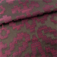 Brown/Mulberry Red Ikat Home Decorating Fabric