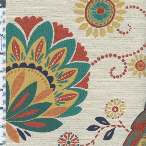multicolor  ivory bird  floral home decorating fabric