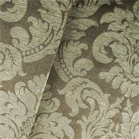Moss Green/Brown Acanthus Chenille Jacquard Home Decorating Fabric