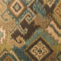 Brown/Gold Ikat Diamond Home Decorating Fabric