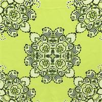 *3 PANELS--Lime Green Silk Chiffon
