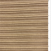 Golden Beige Ribbed Polyester Home Decorating Fabric