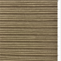 Copper Brown Ribbed Polyester Home Decorating Fabric